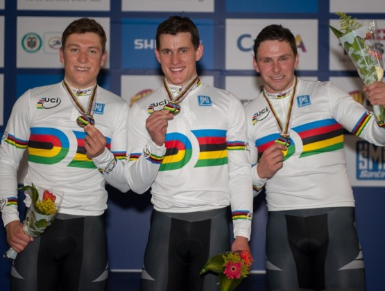 2014 World Track Championships Cali Colombia 1st Place Mens Team Sprin v2