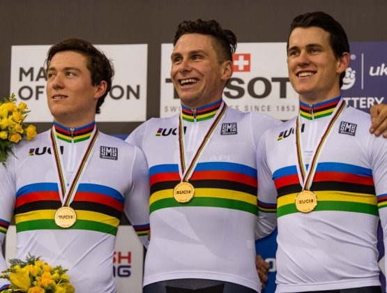 2016 World Track Championships London UK 1st Place Mens Team Sprint v2