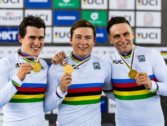 2017 World Track Championships Hong Kong 1st Place Mens team Sprint v2